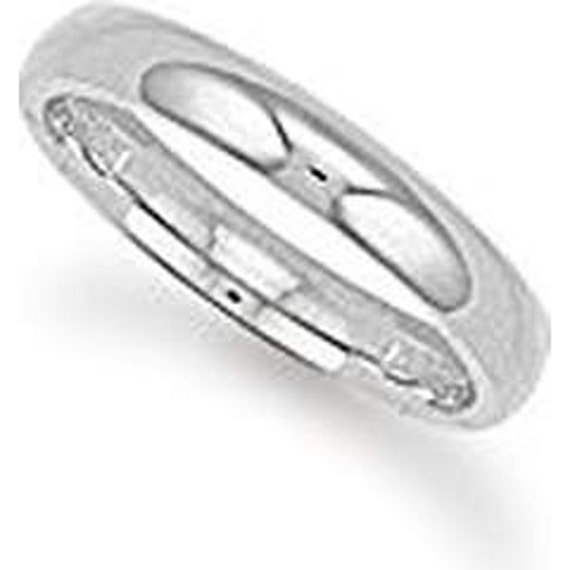 9ct White Gold 3mm Wedding Ring, Court Style