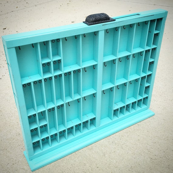 Stand alone Printer Drawer Jewelry Hanger Medium Teal