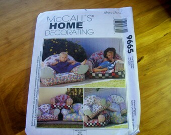 McCall's Home Decorating 9665 Kid's Chair Sewing Pattern