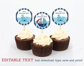 Nautical Cupcake Toppers ...