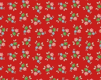 20% OFF Backyard Roses Bouquet Red - 1/2 Yard