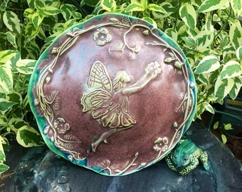 Handmade Ceramic Toad House - Fairy Frog House - Toad Abode - Flower Fairy - Nature Inspired Pottery - Garden Art