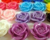 BOGO - 22 Rose Cabochon Assortment 18mm - No Holes - 22 pc - CA2007-AS22 - Buy 1, Get 1 Free - No coupon required