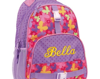Personalized Backpack Butterfly, Stephen Joseph Bookbag, Monogrammed, Elementary school backpack
