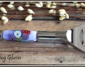 Peony Bouquet Canape Knife with Lampwork Beads