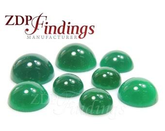 12pcs x Round 8mm Green Agate Cabochon Gemstones (AGTGRDCB8)
