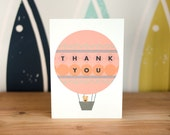 Custom Listing – 15 Hot Air Balloon Thank You Cards