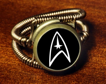 Steampunk Jewelry - Ring - Star Trek (Custom size available - see description)