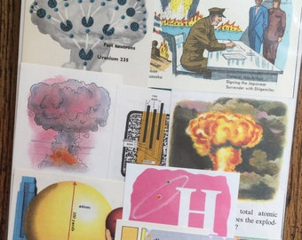 If the Atom Bomb Strikes Vintage 1950's Nuclear Science Collage and Scrapbook Kit Number 2210
