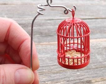 Tiny Fairy Garden Cage with Shepherd's for the Miniature Garden, Fairy Garden or Terrarium, Sweetness
