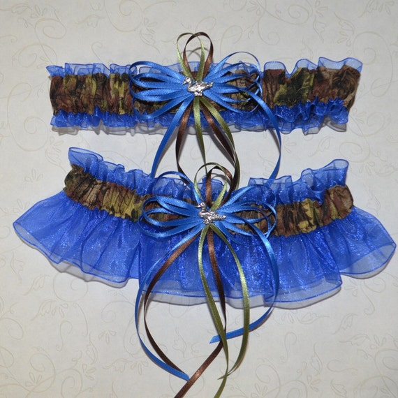 Items Similar To Camouflage Wedding Garter Set On Royal