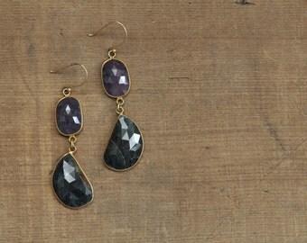 Sapphire Slice Earrings