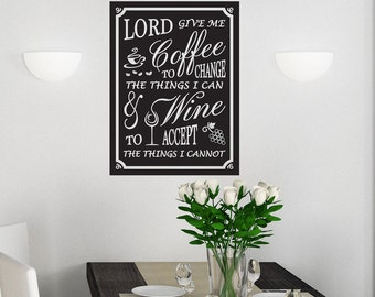 Lord Give Me Coffee - Wall Decal