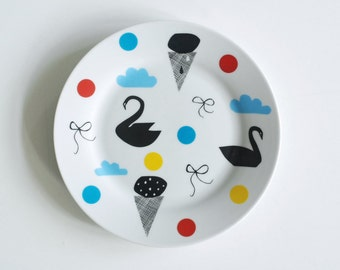 SUMMER SALE! Illustrated breakfast plate Few of my favorite things