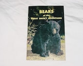 Vintage 50s Bears of the Great Smoky Mountains Booklet