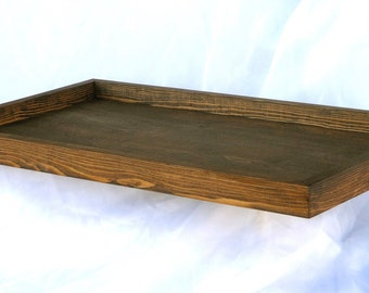 "Place Card Display Tray + Rustic Chic Wedding Place Card Display Tray (24L"" x 14W"" x 1.5H"")"
