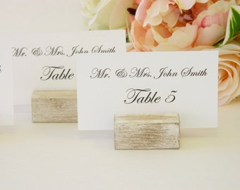 Place Card Holder + White Distressed Place Card Holder + Rustic Wedding Place Card Holder (Set of 100)