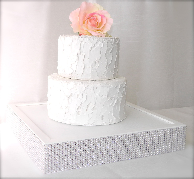Cake Stand Wedding Cake Stand White Rhinestone Cake Stand