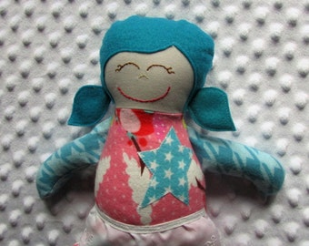 Rosalie Small Handmade Fabric Baby Doll