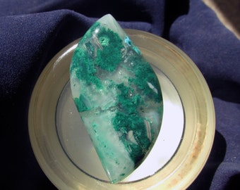 Malachite in Chalcedony Cabochon Inspiration Mine