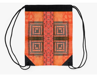 Cinch Backpack,Drawstring Pouch,Carry All Bag,Supplies for Back to School,Going off to College Gifts,Holiday Gifts for Students,Tribal Bag
