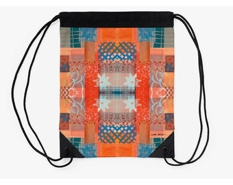 Drawstring Backpack,Boho Bag,Festival Bag,Unique Back to School Supplies,Back to School Student Gifts,Festival Cinch Bag,Holiday Gifts