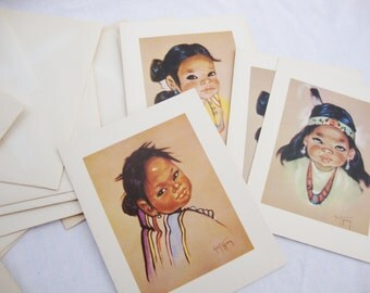 9 vintage native american waif note cards christo hersey