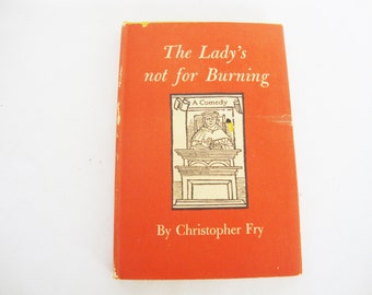 vintage theater play book the ladys not for burning 1950 christopher fry