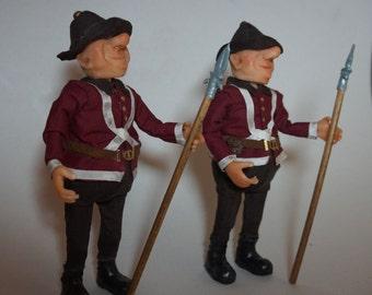 Custom Order for jokerman608 Tweedle Dee / Tweedle Dum - ooak art figures 12th scale CWPoppets