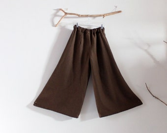 custom wide leg linen pants made to order