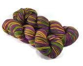 New Orleans - Letter - 100% superwash merino wool, fingering weight, Mardi Gras Yarn, hand painted yarn