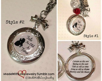 Tale As Old As Time Locket Necklace