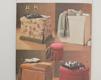 2000s UNCUT Vogue Decor Sewing Pattern 7789 Home Accessories Storage Ottomans