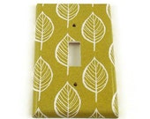Switchplate Light Switch Plate Switch Cover in  Olive and Leaves  (220S)