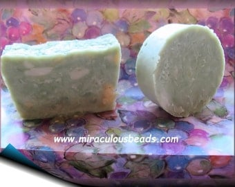 2 Bars Homogenized Soap French Milled Handmade from Scratch with Essential Oils