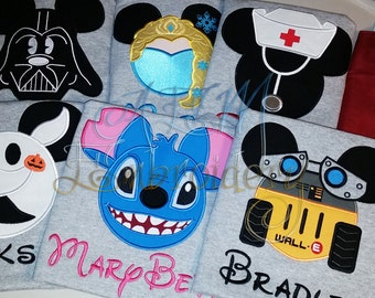 5+ Custom Disney Vacation Unisex ADULT or KIDS unisex Shirts with Character & Name ONLY  (6 weeks)