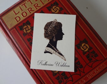 Royal Queen Bookplates Silhouette Print Book DVD Identification Personalized Custom - EnglishPreserves