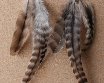 FEATHER Earrings -- Bird, Native American, Southwest - Style 42 - Triple Feather