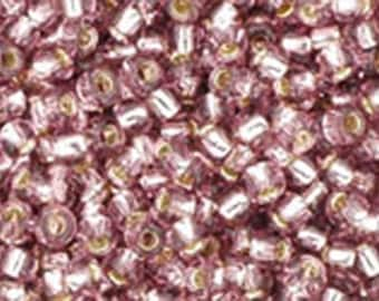 11/0 Silver Lined Light Amethyst Toho Glass Seed Beads 2.5 inch tube 8 grams TR-11-26