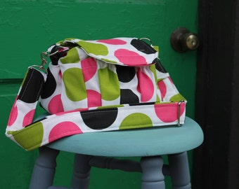 Polka Dot Padded Compact Digital Camera Bag Crossbody Watermelon Wishes