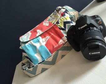 MILAN Custom Patchwork Camera Bag DSLR Made to Order by Waltermelon Wishes