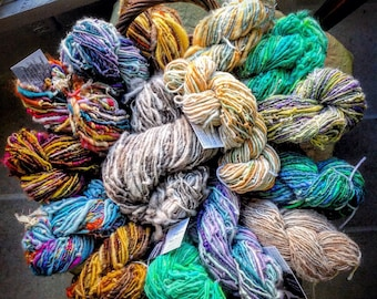 Rudy's Gift - 4.5 oz 180 yds corespun Romney/Lincoln yarn natural colors farm raised