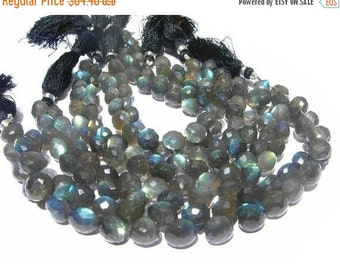 55% OFF SALE 1/2 Strand 20 Pcs Blue Flashy Labradorite Micro Faceted Onion Briolettes Size 8-10mm approx
