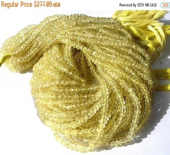 55% OFF SALE Buy Wholesale Lot - 10x14 -140 Inches AAA Lemon Quartz Micro Faceted Rondelles Size - 3.5mm approx