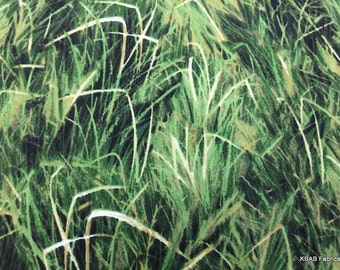 Grass Fabric with Landscape Green Grass Fabric By Yard, Quarter Yard, Fat Quarter Fabric Grassy Field Cotton Quilting Fabric t3/13