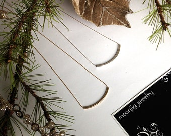 Her Everyday Silver or Gold Simple Minimalist Tube Necklaces