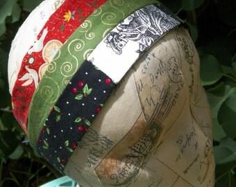 Skeletons Black Cherries Green Swirls Loving Doves Headband Set of Three Gift for Woman