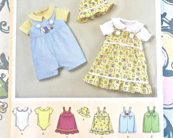 Baby Romper Bodysuit Hat and Jumper Pattern - Simplicity 2905