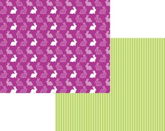 Hippety Hoppety Moxxie 12 x 12 Double Sided Scrapbook Paper