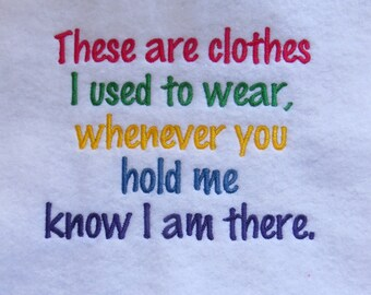 These are CLOTHES I used to wear Embroidery Design - 2 Sizes - Custom Wording Welcome